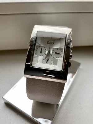 Dolce & Gabbana Watch With Leather Strap white-silver-colored