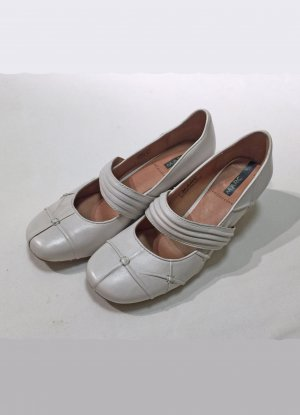MARC Strappy Ballerinas white-natural white leather