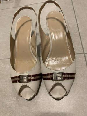 Bally Platform Sandals white