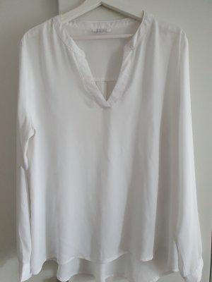 Weiße Basic Bluse