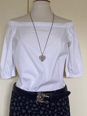 Ralph Lauren Bluzka typu carmen biały Bawełna