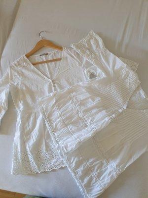 weiße Baumwolle Bluse