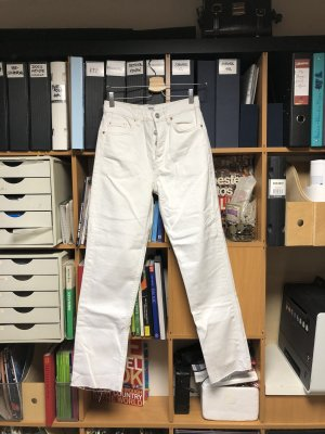 BDG Jeansy z prostymi nogawkami biały-jasnoszary