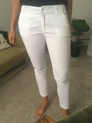 Benetton 7/8 Length Trousers white cotton