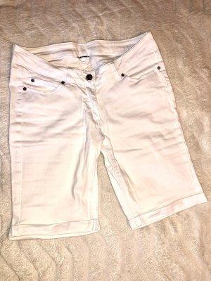 Pantalón corto de tela vaquera blanco