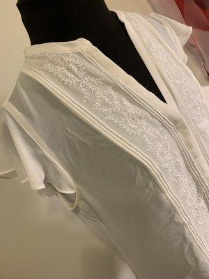 • Weiße bestickte Bluse •• [H&M]