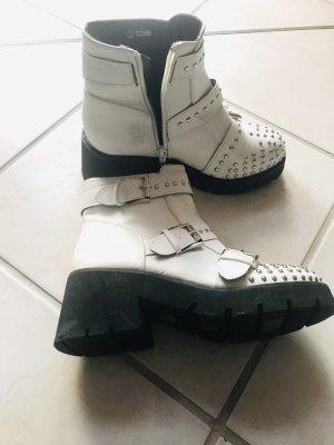 Hot soles Botas del desierto blanco-negro