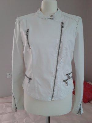 Biker Jacket white viscose