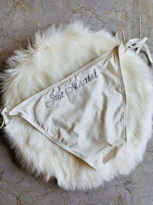 "Weiße Bikini Hose ""Just Married"" Gr. S"