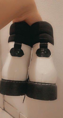 Birkenstock Buty śniegowe biały-czarny