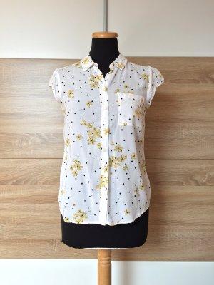Weiße Blumen Bluse, Shirt von Clockhouse, Gr. 36 (NEU)