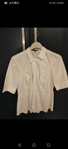 Comma Bluzka z krótkim rękawem biały