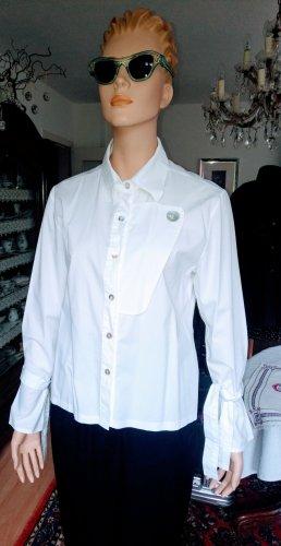 Altamira Milano Blouse met lange mouwen wit Katoen