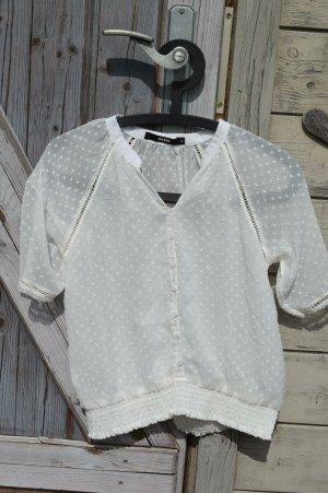 Bik Bok Koronkowa bluzka biały