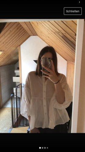 Zara Kołnierzyk koszulowy biały