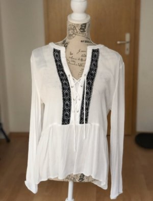 Only Long Blouse white-blue