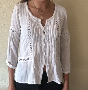 American Eagle Outfitters Blouse à manches longues blanc