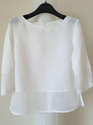 Weiße Bluse aus 100% Leinen
