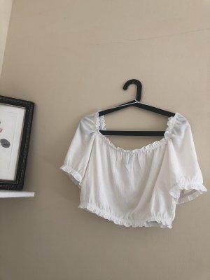weiße Bluse (bauchfrei)