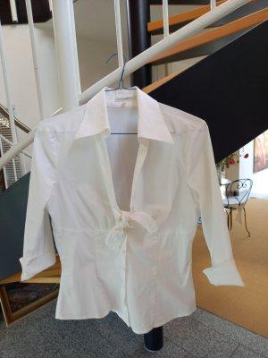 Cols de blouses blanc cassé-beige clair coton