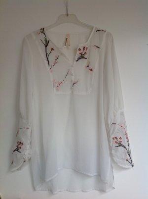 Weiße Bluse, Gr. S/M (38)