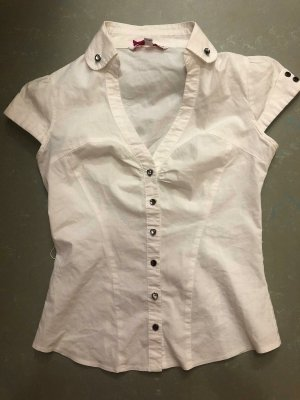 Tally Weijl Short Sleeved Blouse white cotton