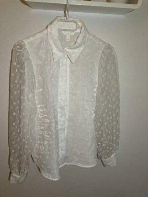 H&M Cols de blouses blanc