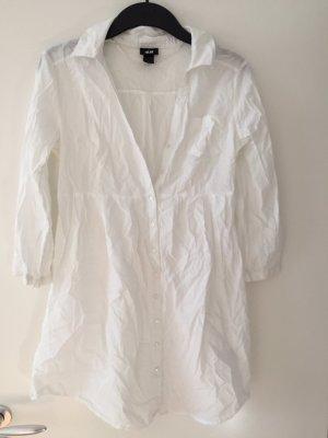 H&M Blusa larga blanco