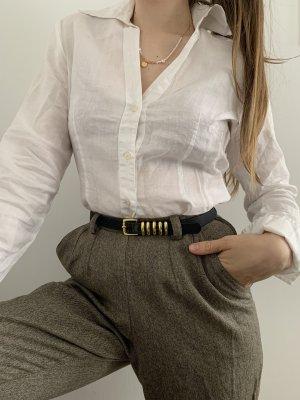 Sisley Camicia a maniche lunghe bianco