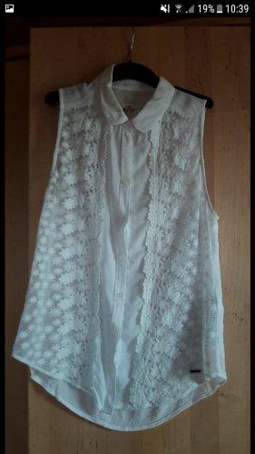 weiße Bluse | Hollister