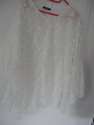 Weiße Bluse in Gr. 50