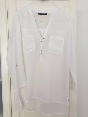 Weiße Bluse in Seidenoptik von Atmosphere