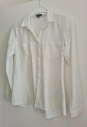 Weiße Bluse, langarm Gr. 38