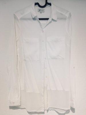 Weiße Bluse, leicht durchsichtig