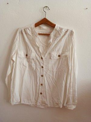 Weiße Bluse Mango mit Knopfleiste
