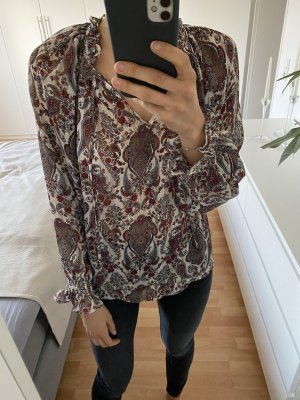 H&M Ruffled Blouse multicolored
