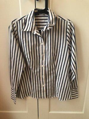 Weiße Bluse mit blauen Streifen von Seidensticker