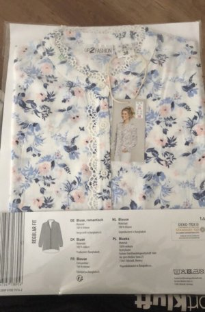 Weiße Bluse mit Blumen Muster