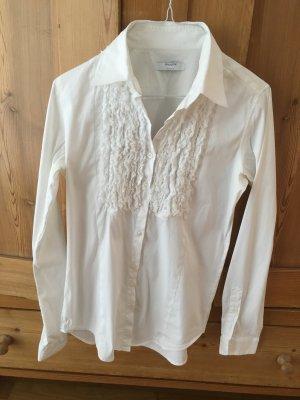 Weiße Bluse mit Details von Aglini