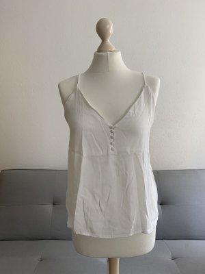 Weiße Bluse mit dünnen Trägern