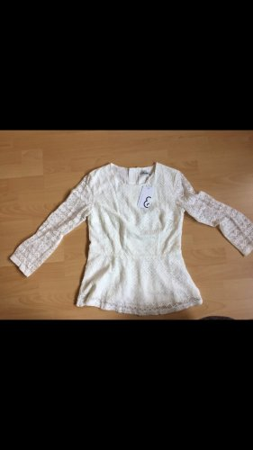Mint&berry Blusa in merletto bianco-bianco sporco Cotone
