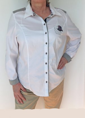 Basler Black Label Camicia blusa bianco-grigio Cotone