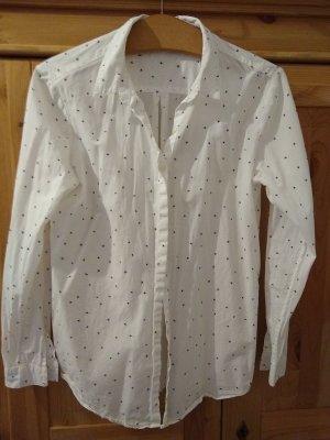 Weiße Bluse mit kleinen schwarzen Sternchen aus Öko-Baumwolle (Armed Angels)