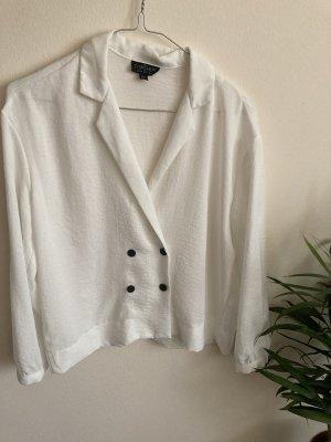 Weiße Bluse mit Knöpfen von Topshop