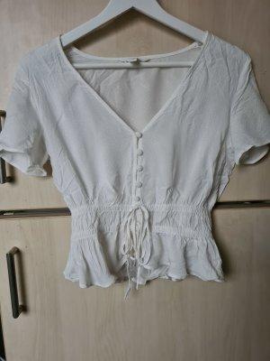 Weiße Bluse mit Knopfleiste