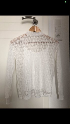 Pimkie Stand-Up Collar Blouse white