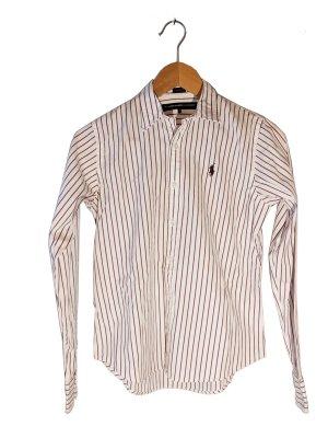 weiße Bluse mit lila Streifen von Ralph Lauren Sport * Größe 4