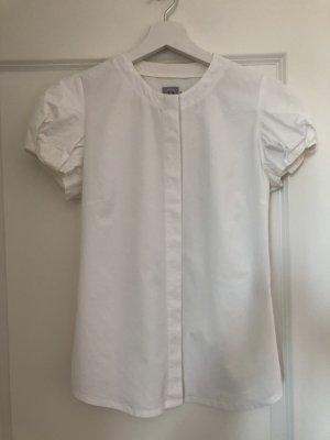 Weiße Bluse mit Puffärmelchen in XS von Premium Hero's -neuwertig