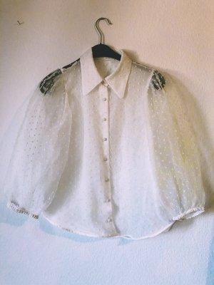Zara Bluzka z falbankami biały