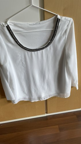 Weiße Bluse mit schönem Kragen